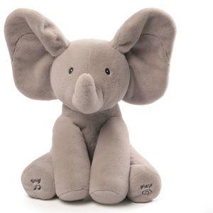Baby Gund Flappy The Elephant Musical Elephant NWT